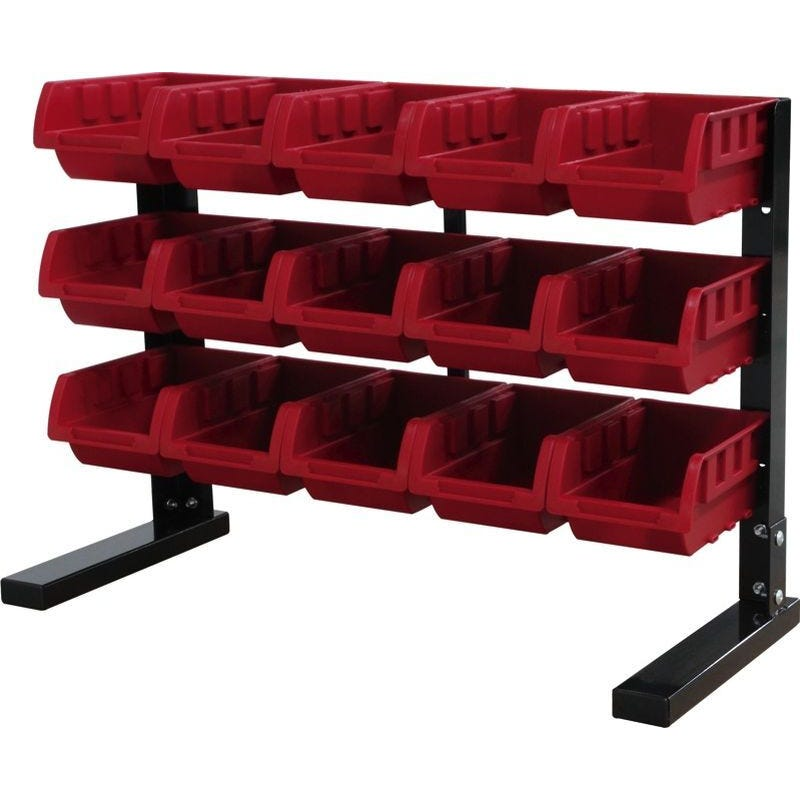 Storage Geelong 15 Bin Rack Red