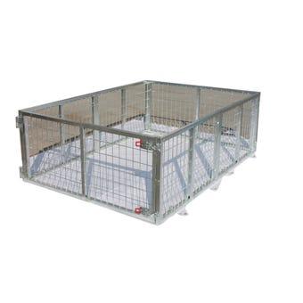 Hardcase Galvanised Trailer Cage 7 x 4ft