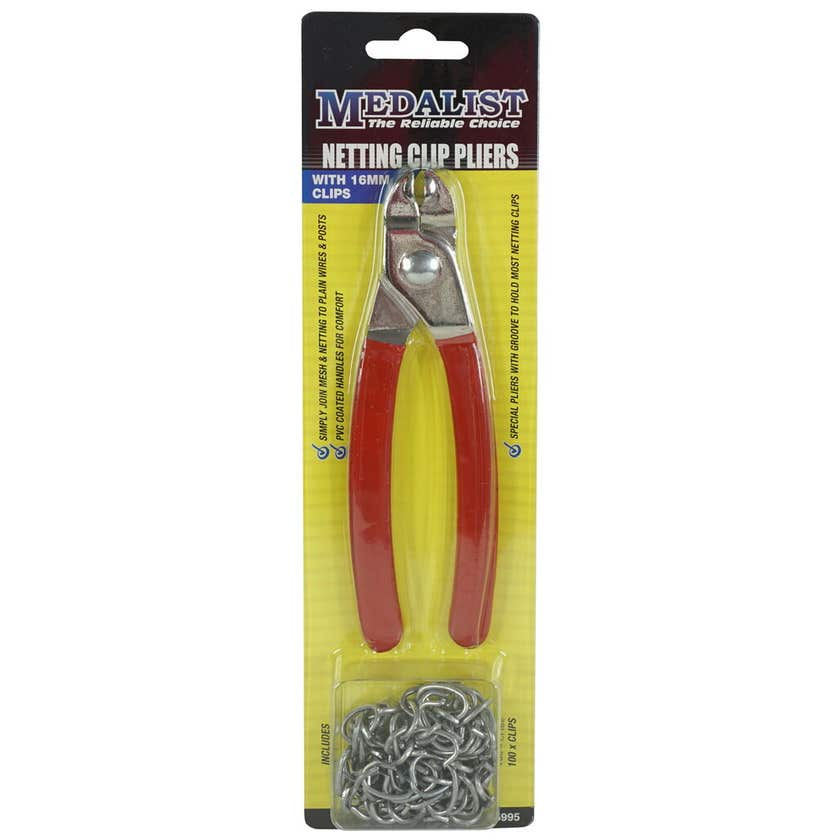 Medalist Netting Pliers 16mm with 100 Clips