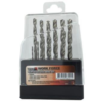 Work Force High Speed Steel Drill Set 1.5 - 6.5mm - 13 piece