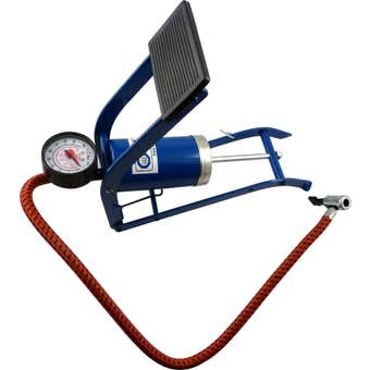 Work Force Foot Pump With Gauge