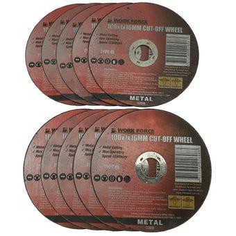 Work Force Metal Cutting Disc 100 x 1 x 16mm - 10 Piece