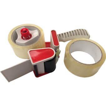 Work Force Tape Dispenser Gun with 2 Tape Rolls