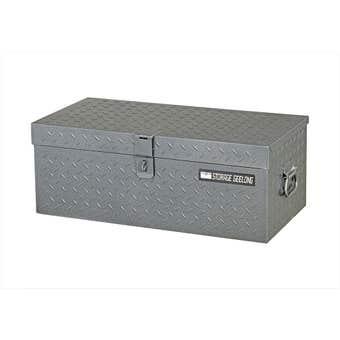 Storage Geelong Diamond Plate Flush Lid Toolbox 670mm