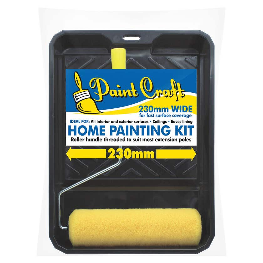 Uni-Pro Paint Craft Roller Kit 230mm with 10mm Nap