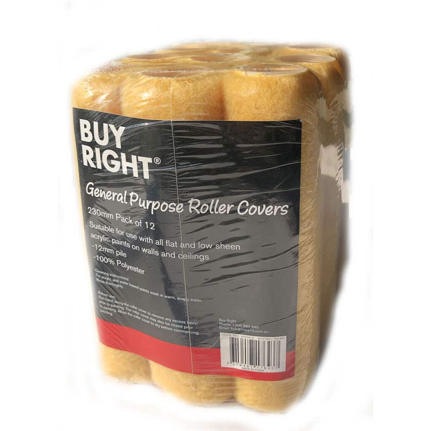 Buy Right Roller Covers 230mm - 12 Pack