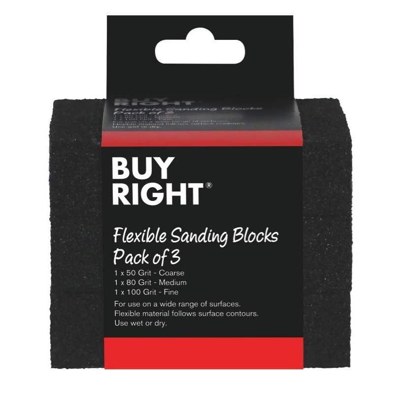 Buy Right Flexible Sanding Blocks - 3 Pack