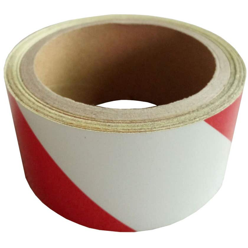 Medalist Reflect Adhesive Tape Red & White 50mm x 10m