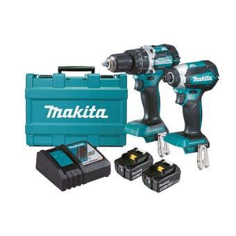 Makita 18V 5.0Ah Brushless Combo Kit - 2 Piece DLX2180TX