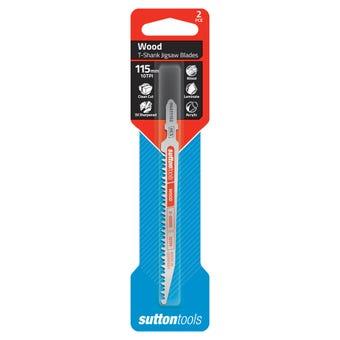 Sutton Tools T-Shank Jigsaw Blade Wood Extra Fine 115mm - 2 Piece