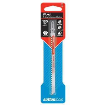Sutton Tools T-Shank Jigsaw Blade Clean Cut 130mm - 2 Piece