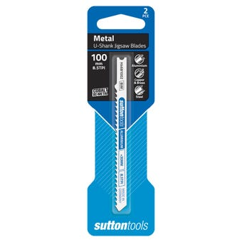 Sutton Tools U-Shank Jigsaw Blade Metal Aluminium 100mm - 2 Piece