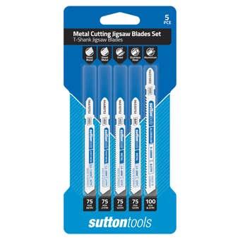 Sutton Tools T-Shank Jigsaw Blade Set Metal Cutting - 5 Piece