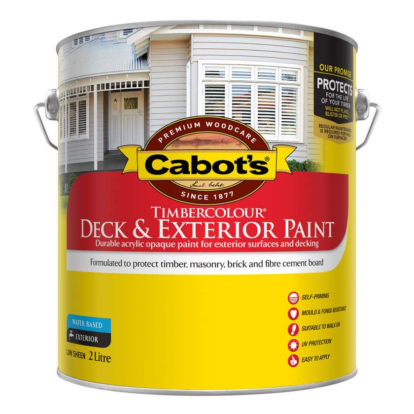 Cabot's Timbercolour Deck & Exterior Paint Extra Bright Base 2L