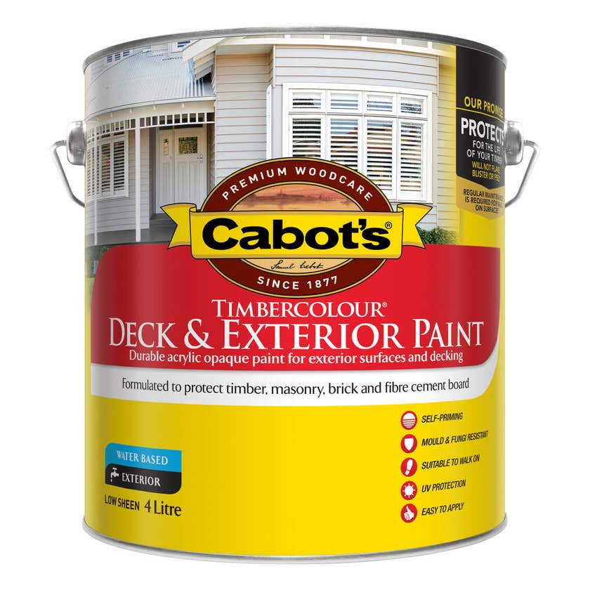 Cabot's Timbercolour Deck & Exterior Paint Extra Bright Base 4L
