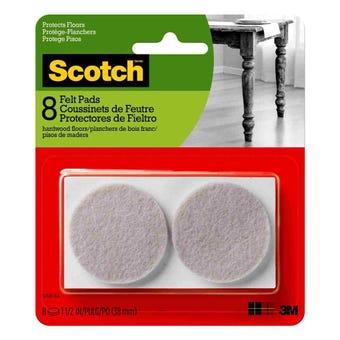 Scotch Round Felt Pads Beige 41mm - 8 Pack