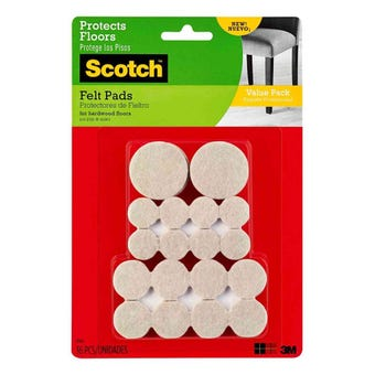 Scotch Ciclular Felt Pads Beige - 36 Pack