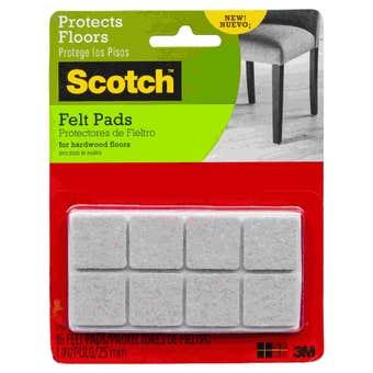 Scotch Square Felt Pads Beige 25mm - 16 Pack