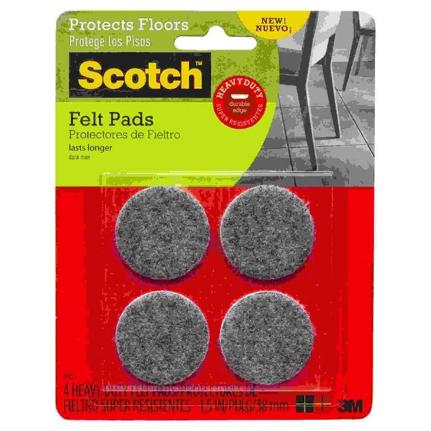 Scotch Heavy Duty Felt Pads 38mm - 4 Pack