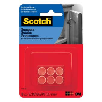 Scotch Rubber Bumpers Clear 12mm - 18 Pack