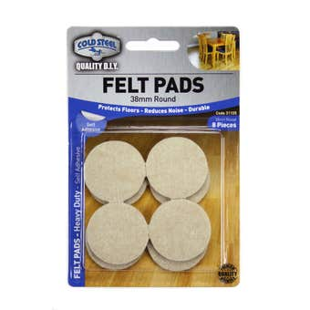 Cold Steel Heavy Duty Round Felt Pads Beige 38mm - 8 Pack