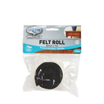 Cold Steel Felt Roll Brown 40mm x 1m