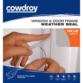 Cowdroy Window and Door Frame Weather Seal Grey 12 x 12mm x 2.5m