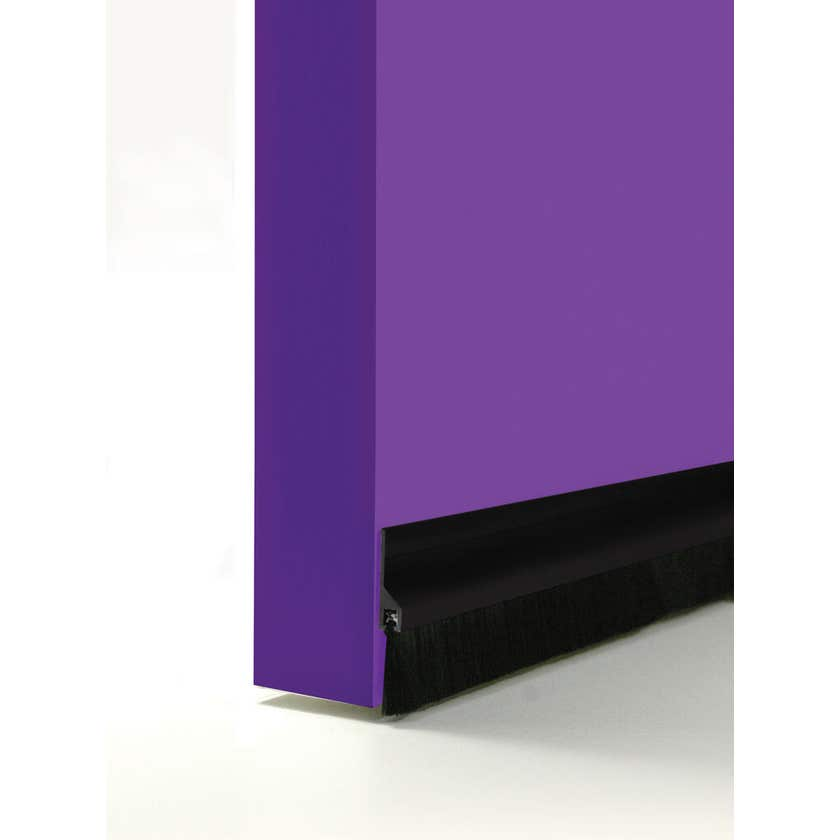 Cowdroy Brush Strip Plastic Door Seal Black