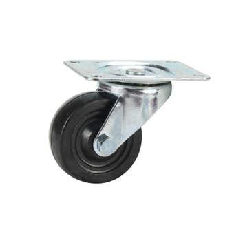 Cold Steel Rubber Swivel Castor Black 75mm