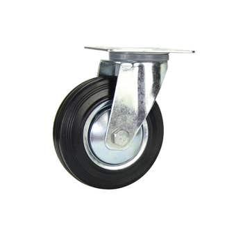 Cold Steel Rubber Swivel Castor Black 125mm