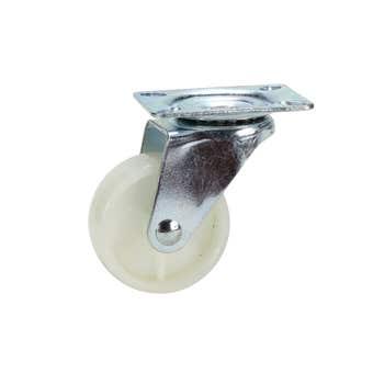 Cold Steel Nylon Swivel Castor White 63mm