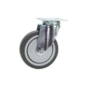 Cold Steel Rubber Swivel Castor Grey 100mm