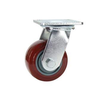 Cold Steel Urethane Swivel Castor Red 100mm