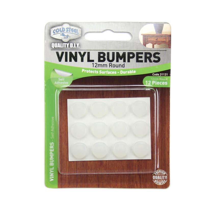 Cold Steel Vinyl Bumpers Round Opaque 12mm - 12 Pack