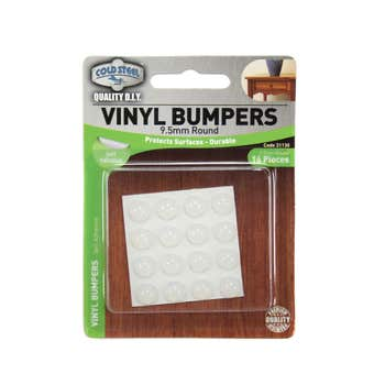 Cold Steel Round Vinyl Bumpers Opaque 9.5mm - 16 Pack