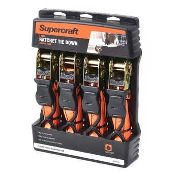 Supercraft Ratchet Tie Down - 4 Piece