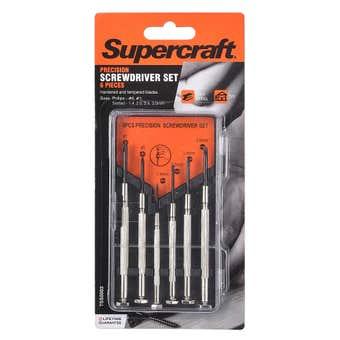 Supercraft Screwdriver Jewellers - 6 Piece