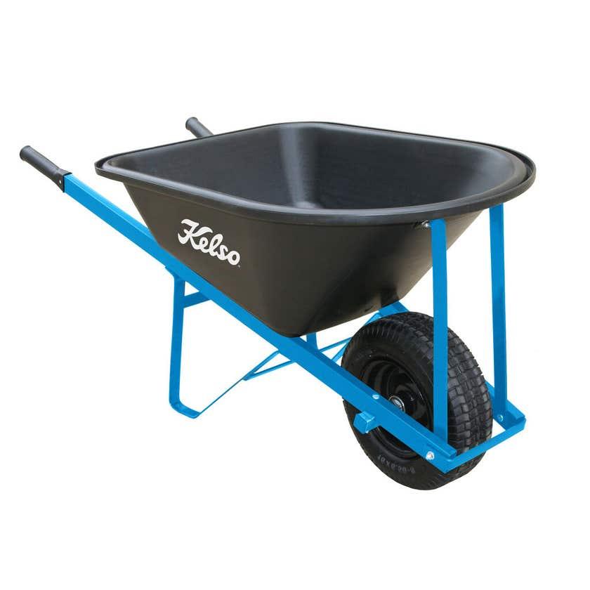 Kelso Trade Poly Tray Wheelbarrow 100L
