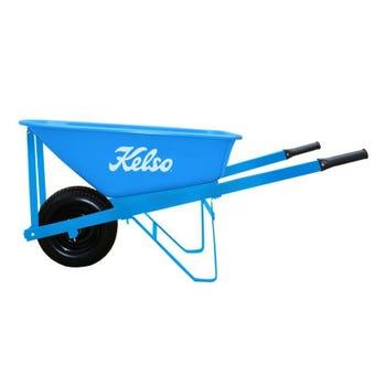 Kelso Heavy Trade Steel Tray Wheelbarrow 100L
