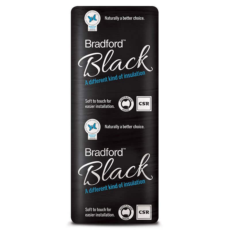 Bradford Black R1.5 Insulation Wall Batts 1160 x 430mm Pack 22