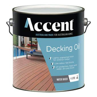 Accent Water Based Decking Oil Natural 4L