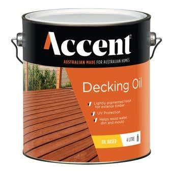 Accent Oil Based Decking Oil Jarrah 4L