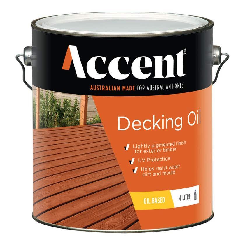 Accent Oil Based Decking Oil Merbau 4L