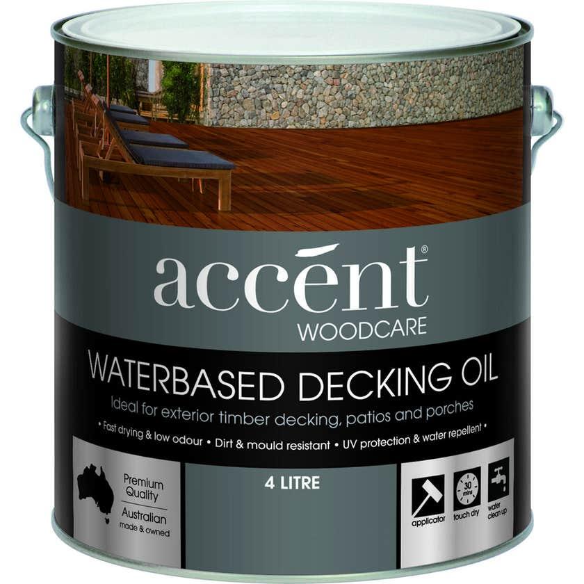 Accent Water Based Decking Oil Jarrah 4L