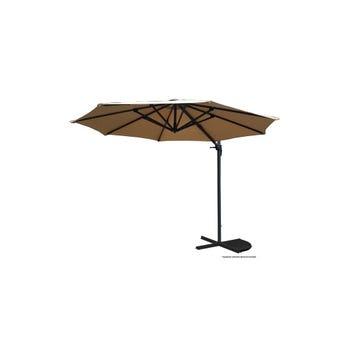 Umbrella Cantilever Aluminium Taupe 2.95m
