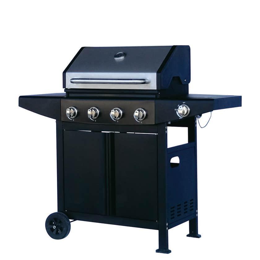 Grilled Yarra 4 Burner Hooded BBQ with Side Burner