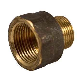 Brasshards Adaptor Male & Female Red Brass 10mm x 6mm