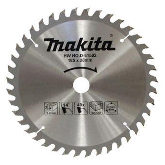 Makita Saw Blade Economy 185 x 20mm bore x 40T
