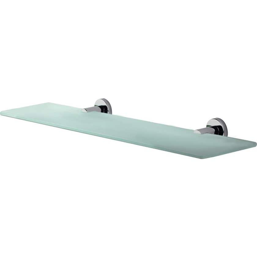 Mixx Glass Shelf Round Chrome