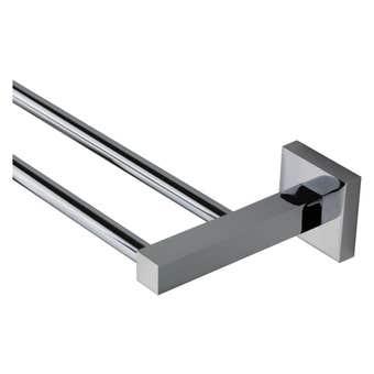 Mixx Double Towel Rail Square Chrome 750mm